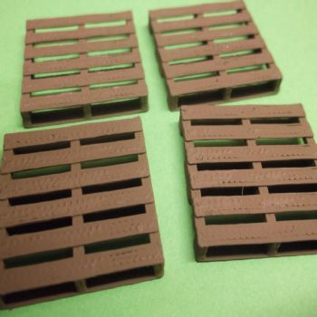 O Scale Pallets - Pack of 4